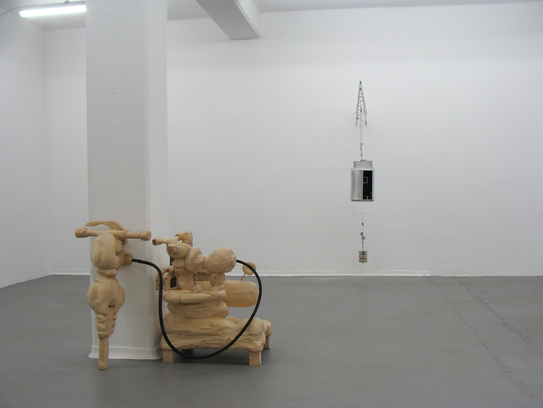 An installation view of an exhibition from the class of Prof. Richard Deacon in Sammlung Philara in Düsseldorf Reisholz, 2011